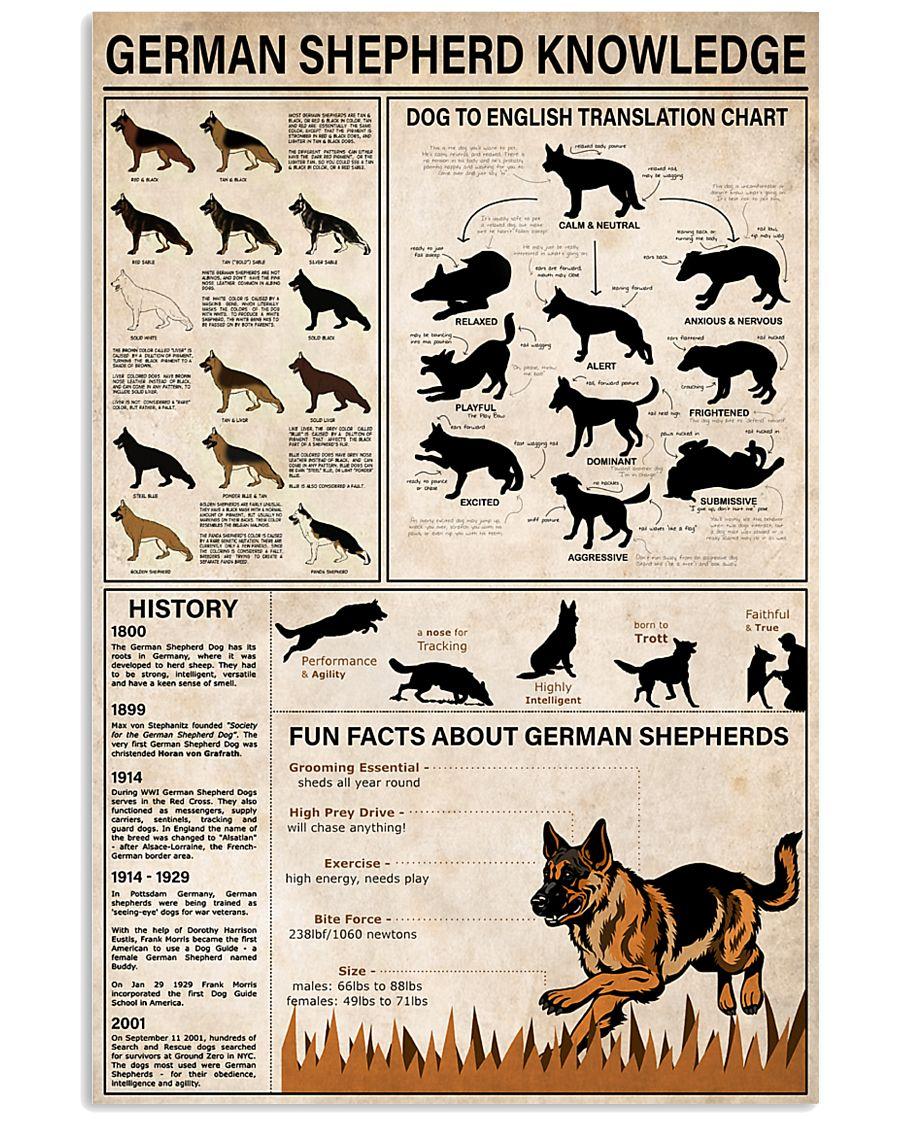 German Shepherd Knowledge 11x17 Poster