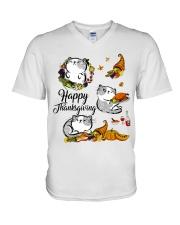 Happy Thanksgiving V-Neck T-Shirt thumbnail