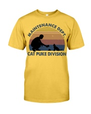 Cat Puke Division Classic T-Shirt front