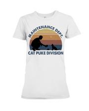 Cat Puke Division Premium Fit Ladies Tee thumbnail