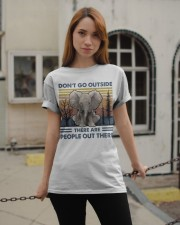 Don't Go Outside Classic T-Shirt apparel-classic-tshirt-lifestyle-19