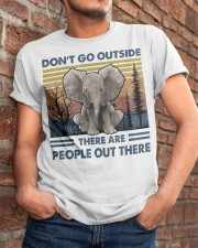 Don't Go Outside Classic T-Shirt apparel-classic-tshirt-lifestyle-26