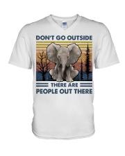 Don't Go Outside V-Neck T-Shirt thumbnail