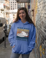 After While Crocodle Hooded Sweatshirt lifestyle-unisex-hoodie-front-1