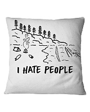 I Hate People Square Pillowcase tile