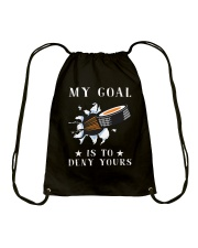 My Goal Is To Deny Yours Drawstring Bag thumbnail