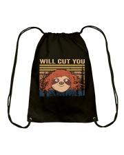 Will Cut You Drawstring Bag thumbnail