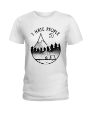 I Hate People 1 Ladies T-Shirt thumbnail