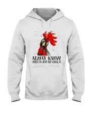 Alway Know When To Just Say Hooded Sweatshirt thumbnail