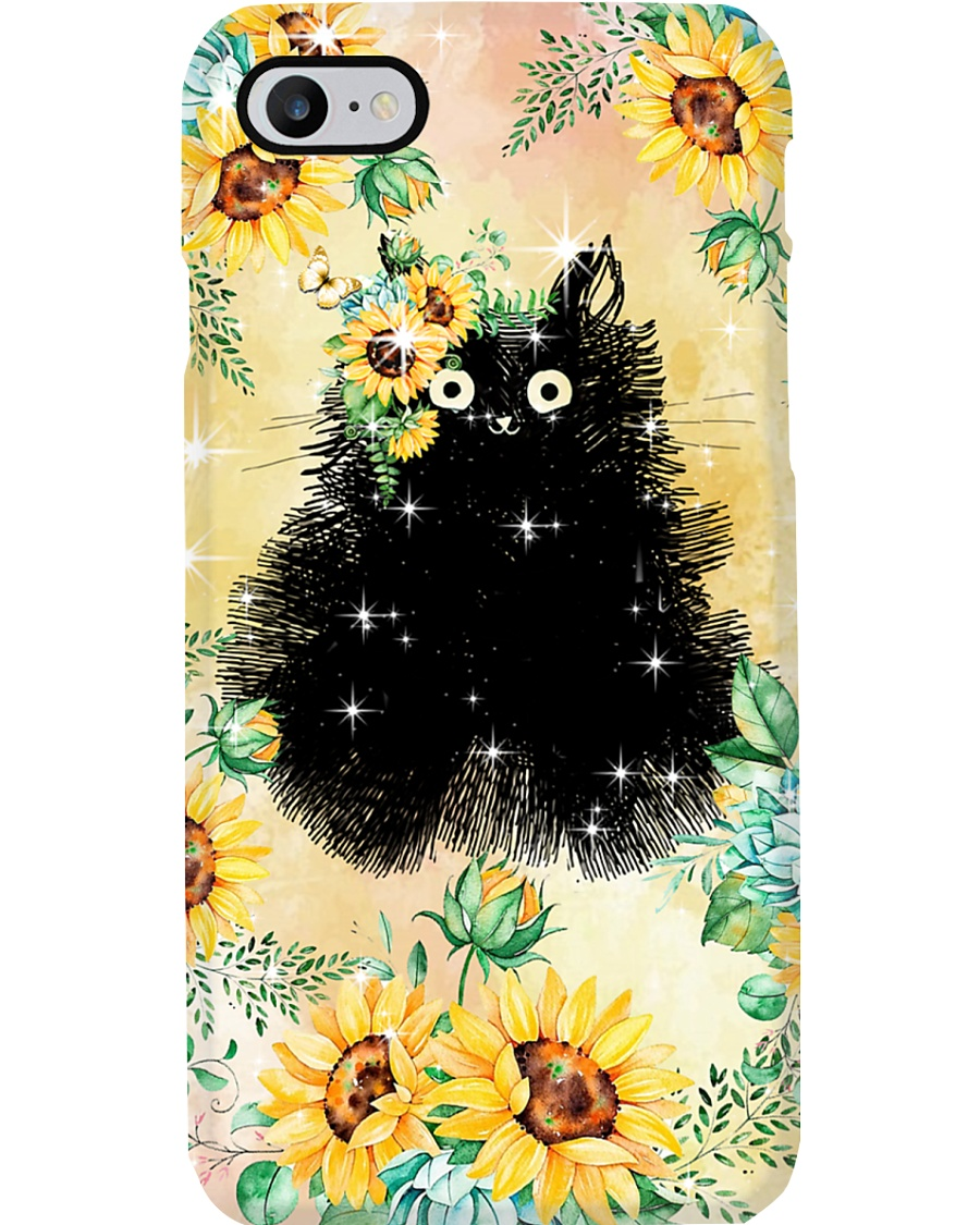 Cat Love Flowers Phone Case