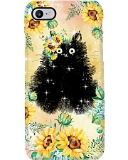 Cat Love Flowers Phone Case i-phone-7-case
