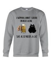 She Also Needs A Cat Crewneck Sweatshirt thumbnail