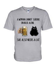 She Also Needs A Cat V-Neck T-Shirt thumbnail