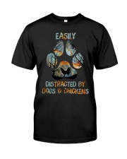 Dogs And Chickens Classic T-Shirt front