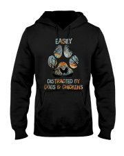 Dogs And Chickens Hooded Sweatshirt thumbnail