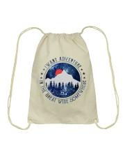 I Want Adventure Drawstring Bag thumbnail