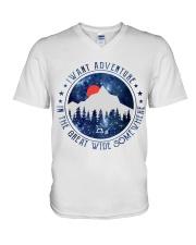 I Want Adventure V-Neck T-Shirt thumbnail