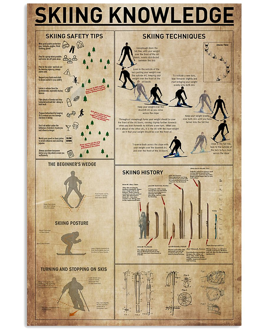 Skiing Knowledge 11x17 Poster