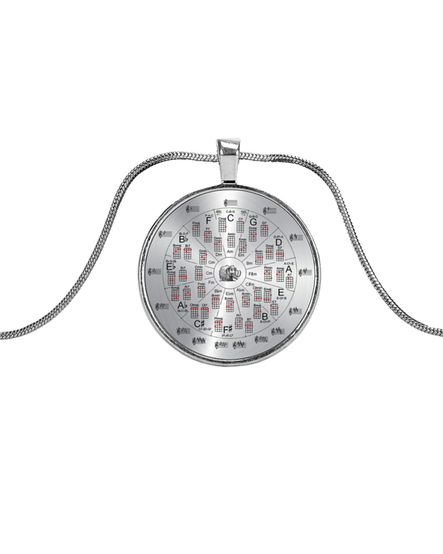 Love Guitar Metallic Circle Necklace