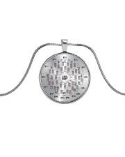 Love Guitar Metallic Circle Necklace front