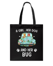 A Girl And Her Dog And Her Bug Tote Bag thumbnail
