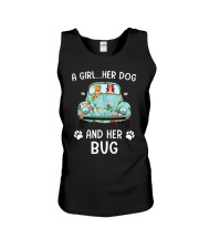 A Girl And Her Dog And Her Bug Unisex Tank thumbnail