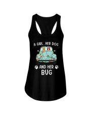 A Girl And Her Dog And Her Bug Ladies Flowy Tank thumbnail