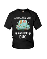 A Girl And Her Dog And Her Bug Youth T-Shirt thumbnail
