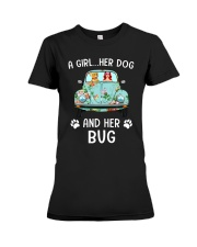 A Girl And Her Dog And Her Bug Premium Fit Ladies Tee thumbnail