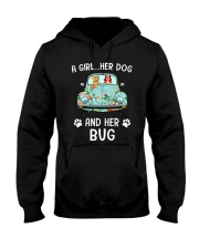 A Girl And Her Dog And Her Bug Hooded Sweatshirt thumbnail