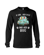 A Girl And Her Dog And Her Bug Long Sleeve Tee thumbnail