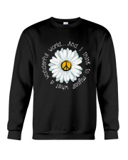 Myself What A Wonderful World Crewneck Sweatshirt thumbnail