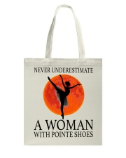 A Woman With Pointe Shoes Tote Bag thumbnail