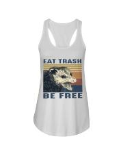 Eat Trash Be Fre-ee Ladies Flowy Tank thumbnail