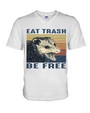 Eat Trash Be Fre-ee V-Neck T-Shirt thumbnail