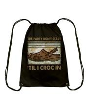 The Party Don't Start Drawstring Bag thumbnail