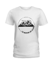 The Mountains Are Calling Ladies T-Shirt tile