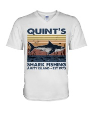 Shark Fishing V-Neck T-Shirt thumbnail