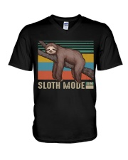 Sloth Mode V-Neck T-Shirt thumbnail