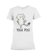 Yoga Pose Premium Fit Ladies Tee thumbnail