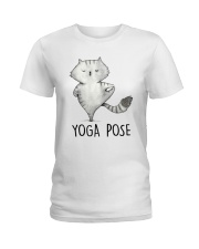 Yoga Pose Ladies T-Shirt thumbnail