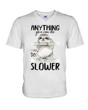 I Can Do Slower V-Neck T-Shirt thumbnail