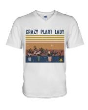 Crazy Plant Lady V-Neck T-Shirt thumbnail