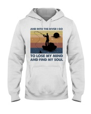 And Into The River I Go Hooded Sweatshirt thumbnail