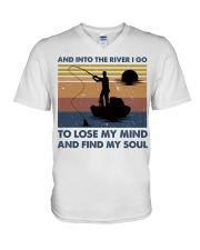 And Into The River I Go V-Neck T-Shirt thumbnail