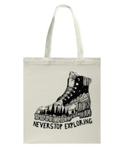 Never Stop Exploring Tote Bag thumbnail