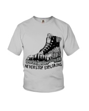 Never Stop Exploring Youth T-Shirt thumbnail