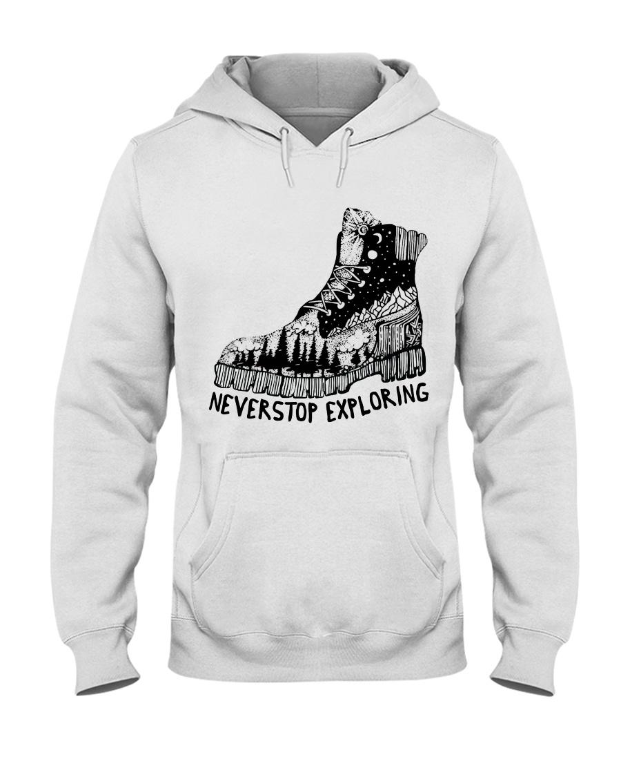 Never Stop Exploring Hooded Sweatshirt