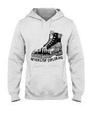 Never Stop Exploring Hooded Sweatshirt front