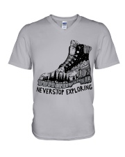 Never Stop Exploring V-Neck T-Shirt thumbnail
